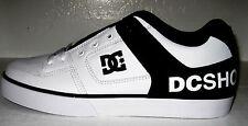 DC Men's  pure xe sneaker,white/dc print  size 7 model # 301722