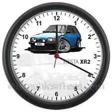 MK2 Ford Fiesta XR2 Blue Caricature Car Cartoon Wall Clock - Personalised Gift