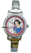 NEW Disney Snow White Italian Charm Silver Watch HTF