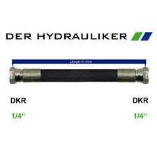 """Hydraulikschlauch 2SC G1/4""""(NW06) mit AGR/DKR/DKR45/DKR90, Zöllig 315 bar, SW19"""