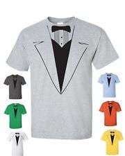 Tuxedo Tux Wedding Funny Gift Groom College Party Men's Tee Shirt