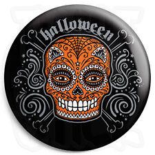Halloween Sugar Skull - 25mm Trick or Treat Button Badge, Fridge Magnet Option