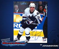 Ed Jovanovski SIGNED Canucks 8X10 Photo -70287
