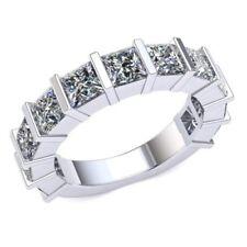 3.90 Ct Diamante Talla Princesa Mujer Utensilios de Bar Novia Eternity con 14k