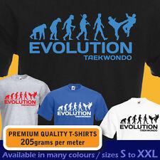 Taekwondo Ape evolución Coreano Artes Marciales Deporte divertida Camiseta Para Hombre Para Mujer Niños