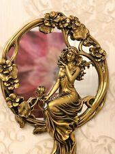 Baroque wall mirror solid gold 67x45cm decorative antique mirror hallway mirror