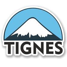 2 x Tignes Ski Snowboard Vinyl Sticker Laptop Travel Luggage Car #5122