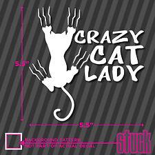 Crazy Cat Lady - vinyl decal sticker window car stick figure family cats funny