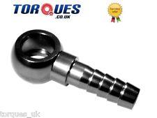 WALBRO / Bosch Filtro Carburante / Pompa 8mm Barb a 10,5 mm Eye Banjo Adattatore in Nero
