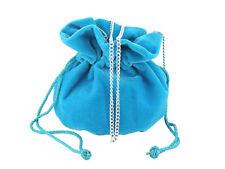 LONI Real British Hand Made Suede Velvet Drawstring Clutch Shoulder Bag