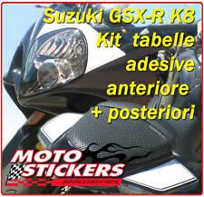 Adesivi moto - Kit tabelle antesive per Suzuki GSX-R K8