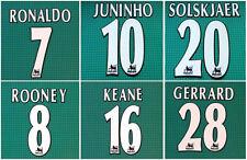 Lextra 1997-2006 Retro RONALDO#7 LAMPARD#8 HENRY#14 Name Number Set
