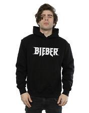 Justin Bieber Uomo Simple Logo Felpa con cappuccio