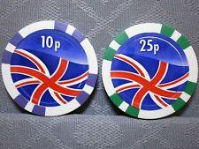 UK Union Jack Drapeau Poker Chip Golf Ball Marker - 11 g diamètre 43 mm
