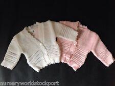 Baby babies girl girls pink white 0-9 months cardi cardigan cardigans cardis