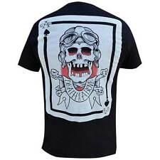 Men Cormack Death From Above Skull Ace Spades Tattoo Art Black Market Tee Tshirt