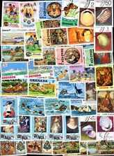 GRENADE et GRENADINES collections de 50 à 500 timbres différents