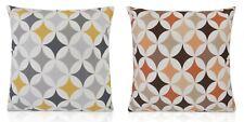 40/43cm Cushions Handmade RETRO Mustard Yellow, Grey / Orange Terracotta Design