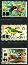 St Vincent 364-366, MNH, Birds.Flowers. s9861