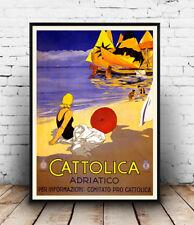 Cattolica: Vintage Publicidad Cartel reproducción