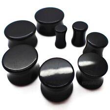 6MM-20MM SCHWARZ PLUG PLUGS RETAINER ACRYL BLACK TUNNEL OHR EYELET SADDLE EAR