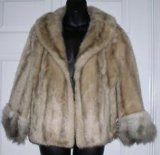 Regina Glenara Vintage Faux Fur Blond Shawl Cape 10 /12