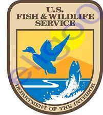 1x Adesivo Pesce statunitense e vita selvaggia Service national Cappotto