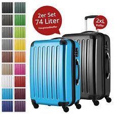 2 er Reisekoffer-Set / Hochglanz-Hartschale / HAUPTSTADTKOFFER / 2x 74L Koffer