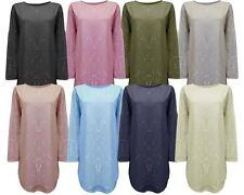 New Ladies Women Splash Print Italian Loose fit Lagenlook Tunic Dress Top 8-14