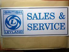 BRITISH LEYLAND SALES & SERVICE large Workshop Garage Sign Sticker BL MG Mini