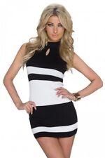 Robe sexy moulante noire et blanche sexy coquin clubwear libertin
