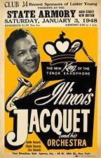 RR15 Vintage Illinois Jacquet Rock & Roll Concert Advertisement Poster A3/A4