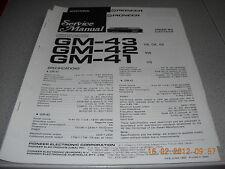 PIONEER GM-43 GM-42 GM-41 Car Stereo Main Amplifier Service Manual u Erweiterung