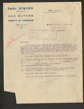 """SETE (34) Concessionnaire GAZ BUTANE / EXPERT en BOIS """"Emile AUQUIER"""" en 1935"""