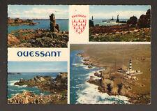 ILE D'OUESSANT (29) PHARE du CREAC'H , aérienne en 1967