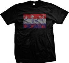 Netherlands Spatter Flag Dutch Pride Nederland Vlag van de Trots Mens T-shirt