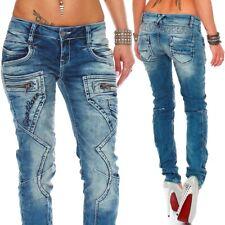 Cipo /& Baxx Slim Skinny Fit WD368 Moon Wash Mid waist Jeans Damen
