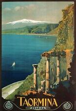 83807 Vintage 1927 Taormina Sicily Italian Italy Decor WALL PRINT POSTER CA