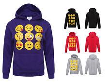 Enfants Enfants Emoji emoticons Visages Souriants à capuche Sweatshirts