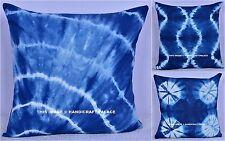 "18"" Cushion Cover Cotton Tie & Dye New Shibori Pillow Case Boho Indian Handmade"
