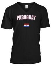 Republic of Paraguay South America Spanish Paz Y Justicia Mens V-neck T-shirt