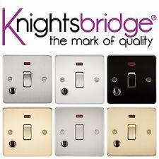 Knightsbridge plat 20A 1 gang dp chauffe-eau commutateur avec néon & flex outlet