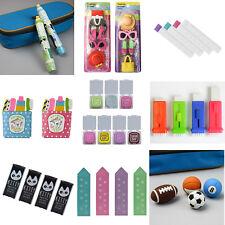 Cute Rubber Pencil Eraser Set Stationery Kid Children Novelty Loot Stocking Gift
