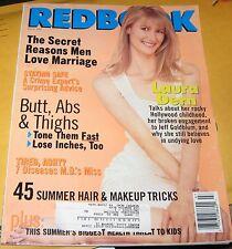 **1997 JULY REDBOOK MAGAZINE LAURA DERN JEFF GOLDBLUM HAIR MAKEUP TRICKS