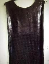 Valiant Black Metallic Front Medieval Renaissance Fabric Tabard Knight-Side Open