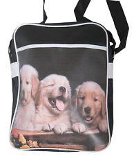 Retro Sport Bag Borsa Borsetta Labrador Cuccioli Cani Scuola/Sholuder Bag New