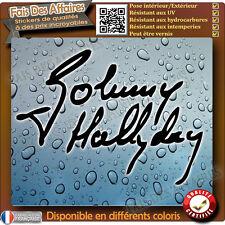 sticker autocollant signature JOHNNY HALLIDAY