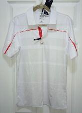 ADIDAS GOLF Coolmax Puremotion Tour Digital White Red Grey Polo Shirt NEW Mens S