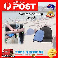 Beach Accessories Children Clear Sand Mitten Cotton Glove Wash Towel Blue Glove