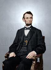 President Abraham Lincoln 1865 Color Tinted Civil War Photo Print - 528388